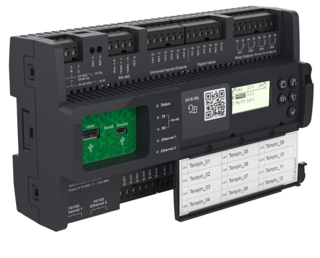 schneider electric sxwasb36h10001 - smartx controller - as-b-36h,  sxwasb36h10001, 36 i/o, manual override bacnet ms/tp