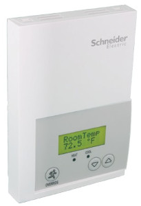 Schneider Electric SE7200F5045P - Zone Controller: ZigBee Pro, 1H/1C, Analog 0-10 Vdc, Commercial/Override